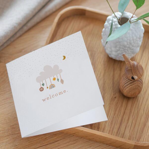 Geburtskarte Sweet Boho