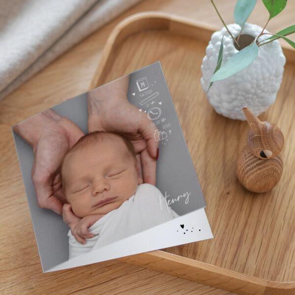 Geburtskarte Hello