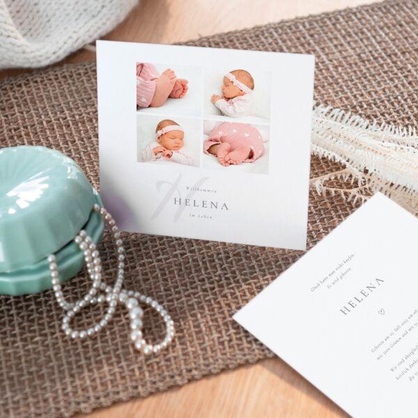 Geburtskarte Momente