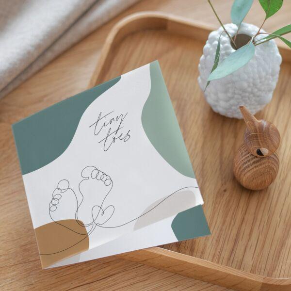 Geburtskarte Tiny Toes