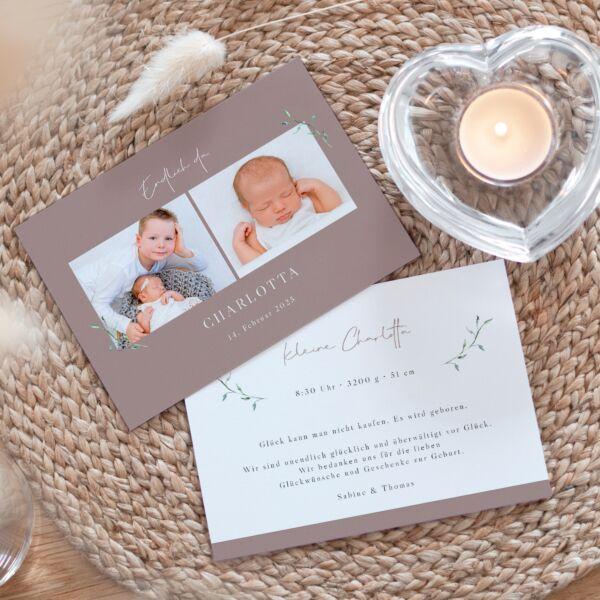 Geburtskarte Romantik