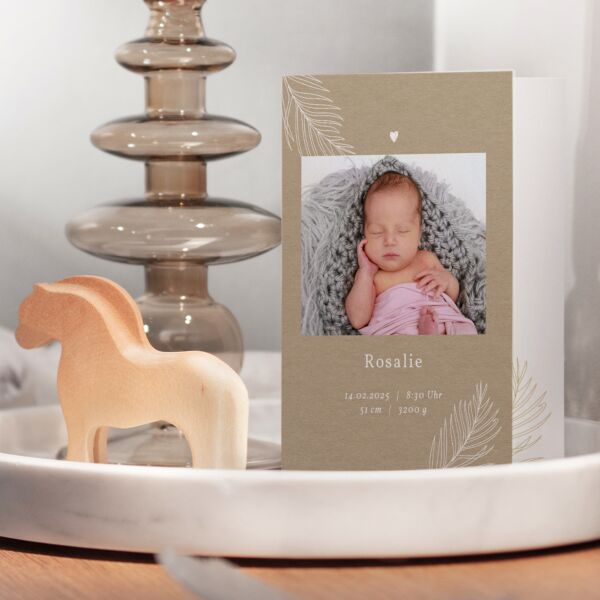 Geburtskarte Farn