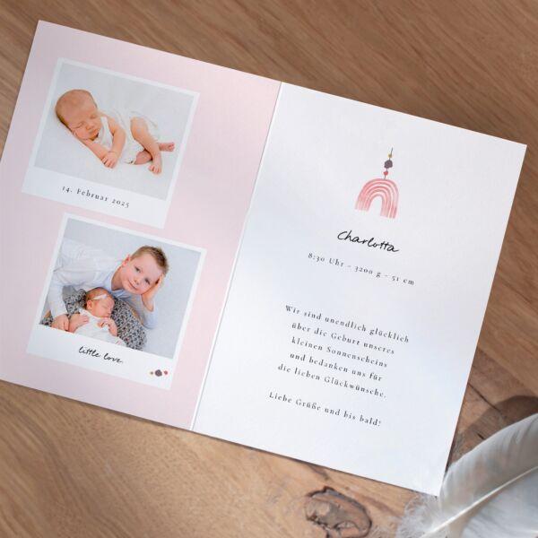 Geburtskarte Kleiner Regenbogen