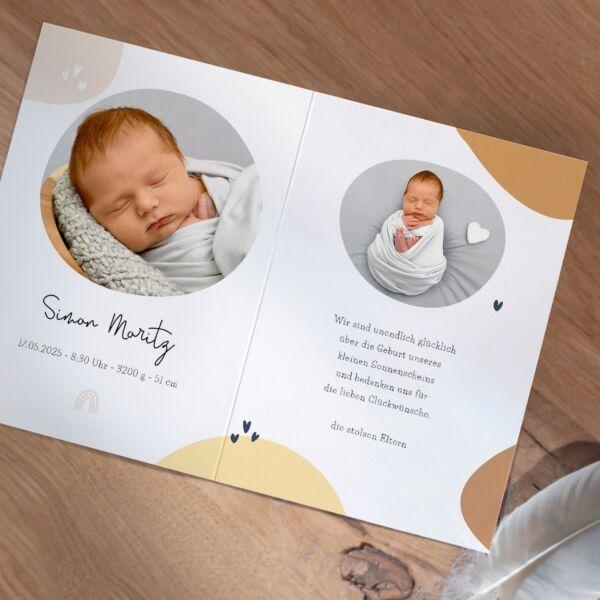 Geburtskarte Klitzeklein