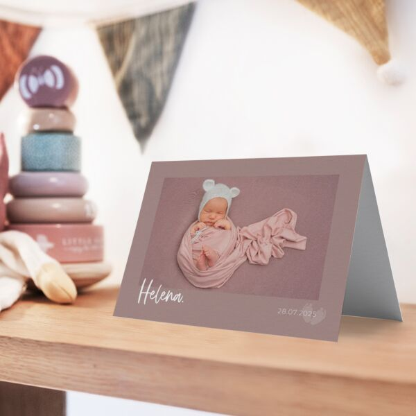 Geburtskarte Simple Polaroid