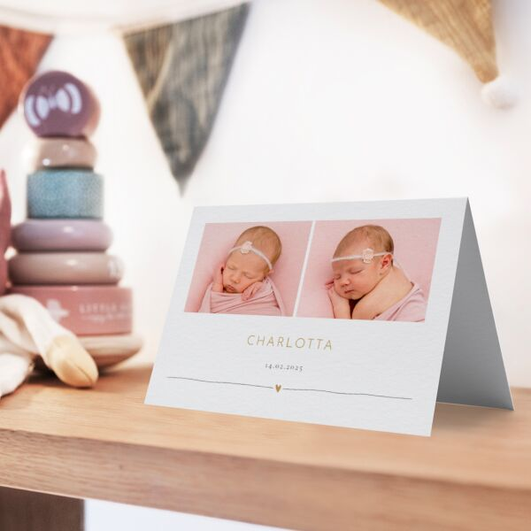 Geburtskarte Voll mit Liebe