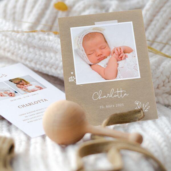 Geburtskarte Natural Love