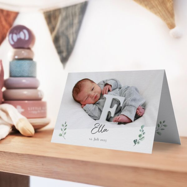 Geburtskarte Eukalyptus
