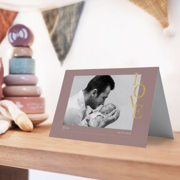 Geburtskarte Loveletter