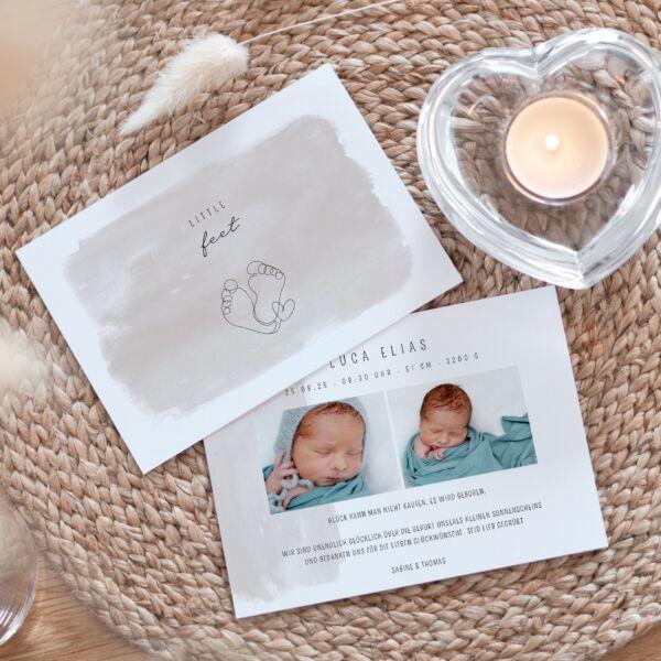 Geburtskarte Little Feet