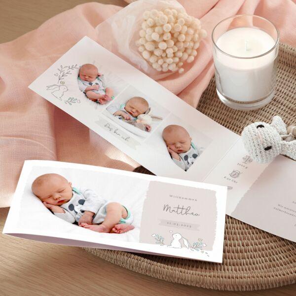 Geburtskarte Willkommen