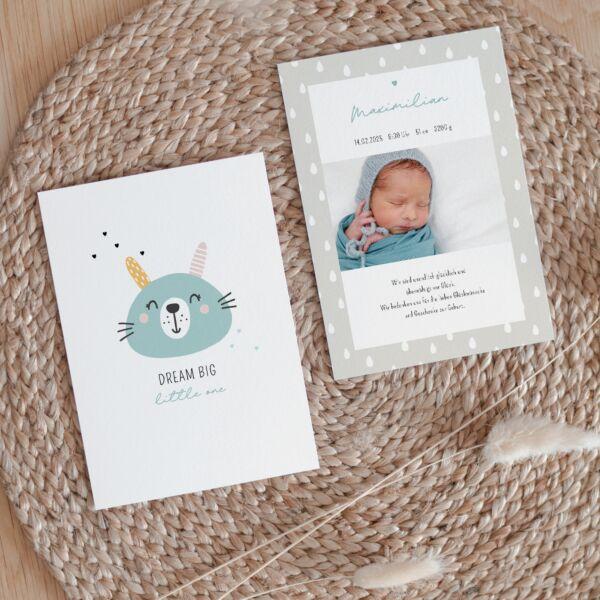 Geburtskarte Animal Smile