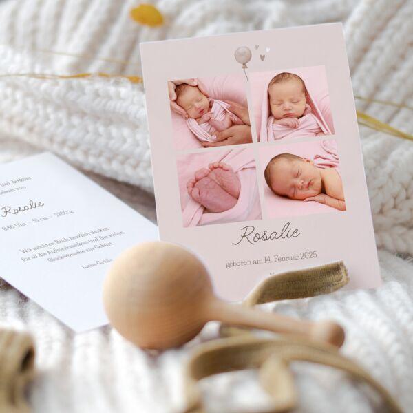 Geburtskarte Ballon