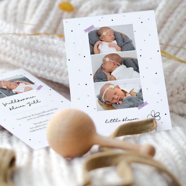 Geburtskarte Blütenreich