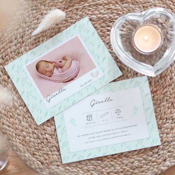 Geburtskarte Floral