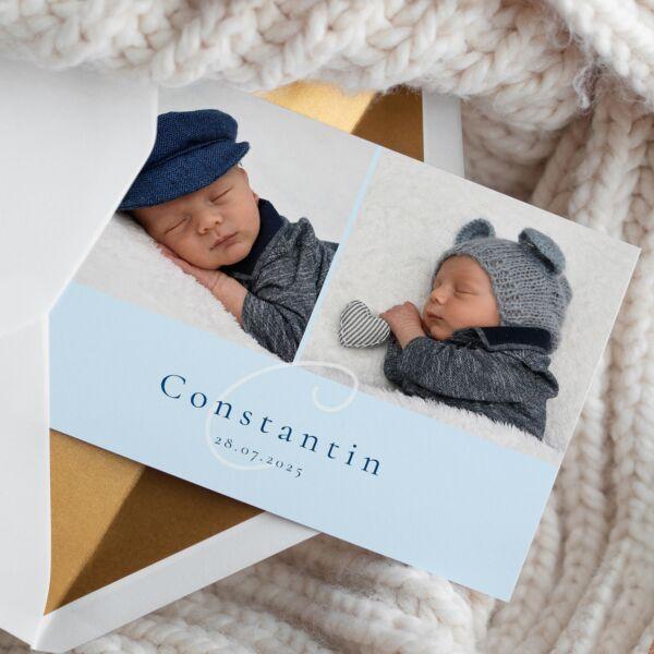 Geburtskarte Großes Glück