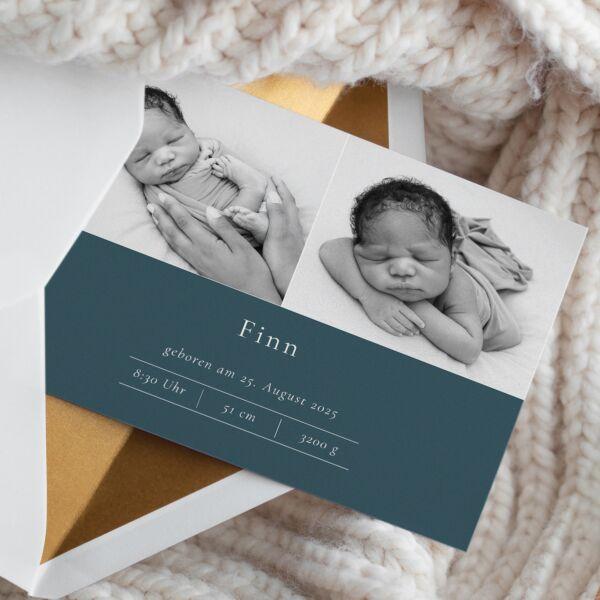 Geburtskarte Scandi Chic