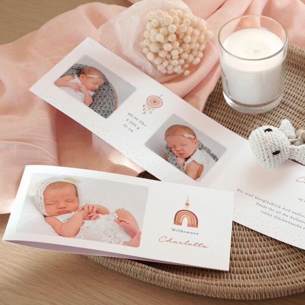 Geburtskarte Boho