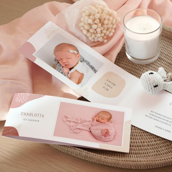 Geburtskarte Glückskind